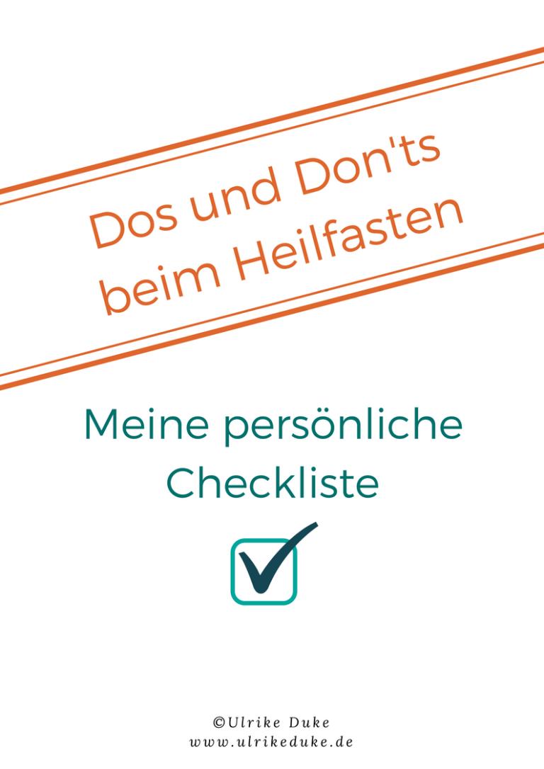 Dos und Don'ts Checkliste zum Heilfasten