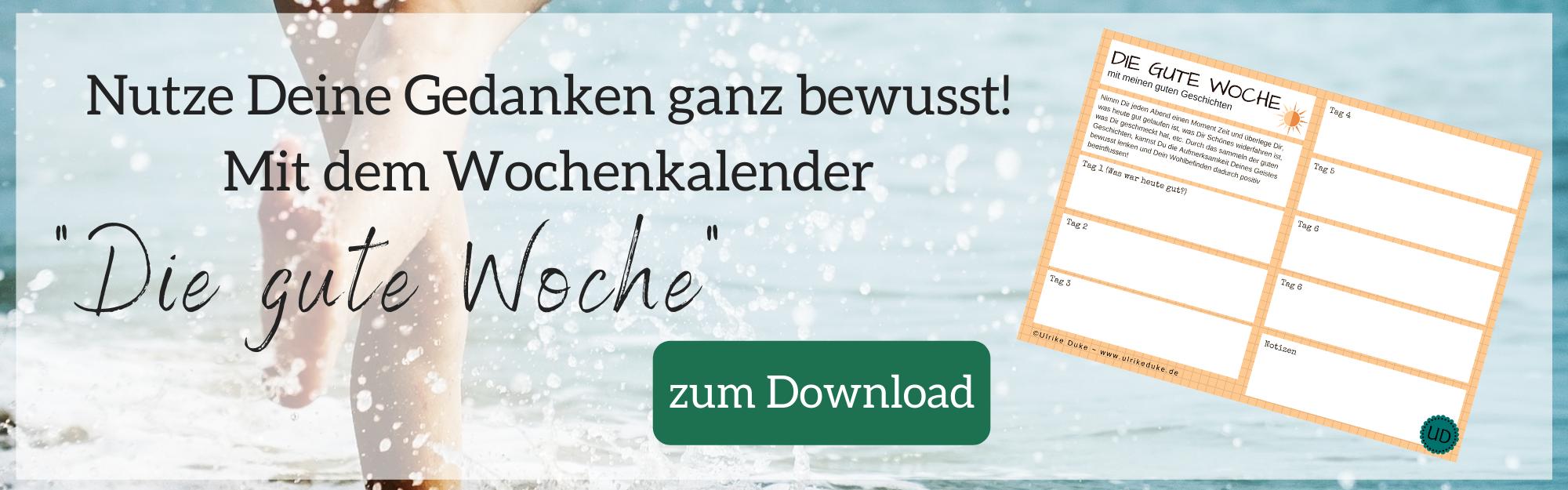 Diplom Psychologin Psychologe 74821 Mosbach Wochenkalender Die gute Woche die macht des positiven Denkens der Gedanken